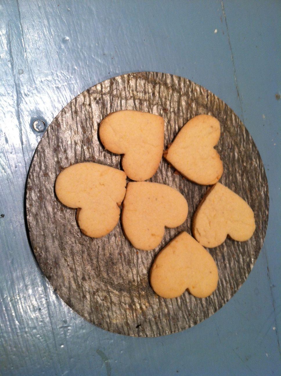 Heart Shaped Lemon-cornmeal Cookies As Thank Yous