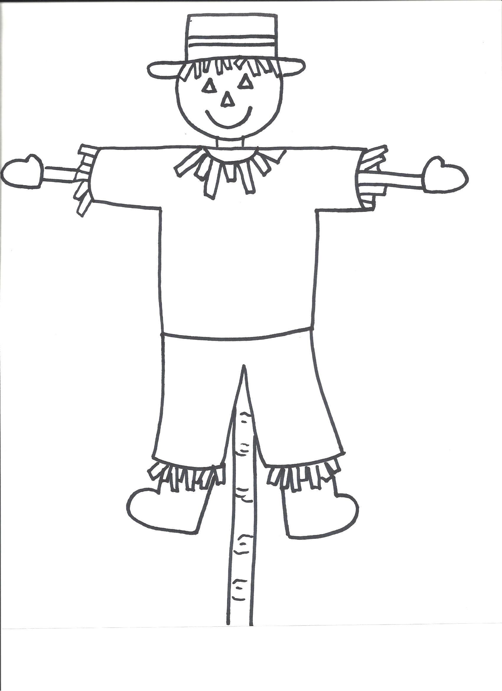 scarecrow template templates crafts for preschool kids art