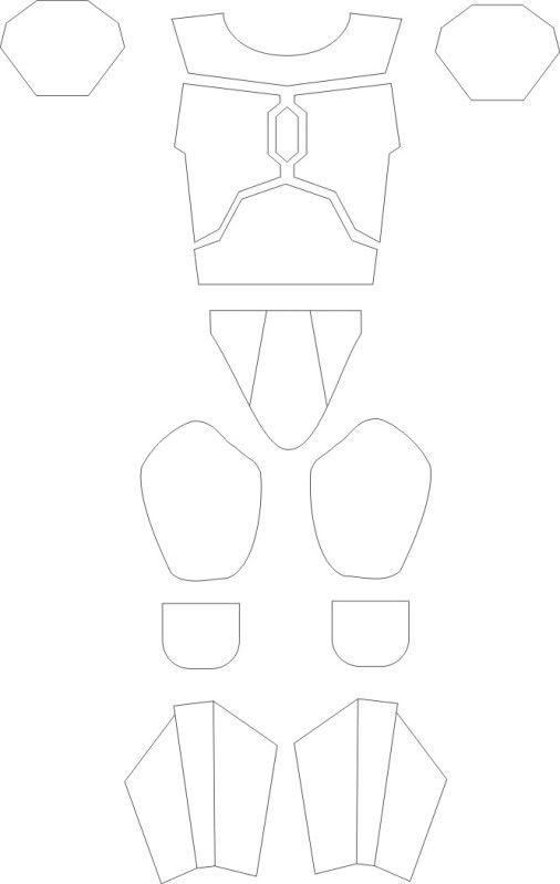 Mandalorian Helmet Pattern : mandalorian, helmet, pattern, Armor, Templates, Disfraz, Hecho, Cartón,, Disfraces, Reciclaje,, Patrones
