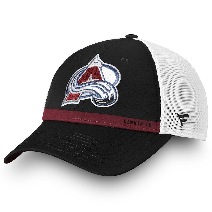 on sale 15fd1 523dc Men s Colorado Avalanche Fanatics Branded Navy White Authentic Pro Rinkside  Trucker Adjustable Hat, Your Price   27.99