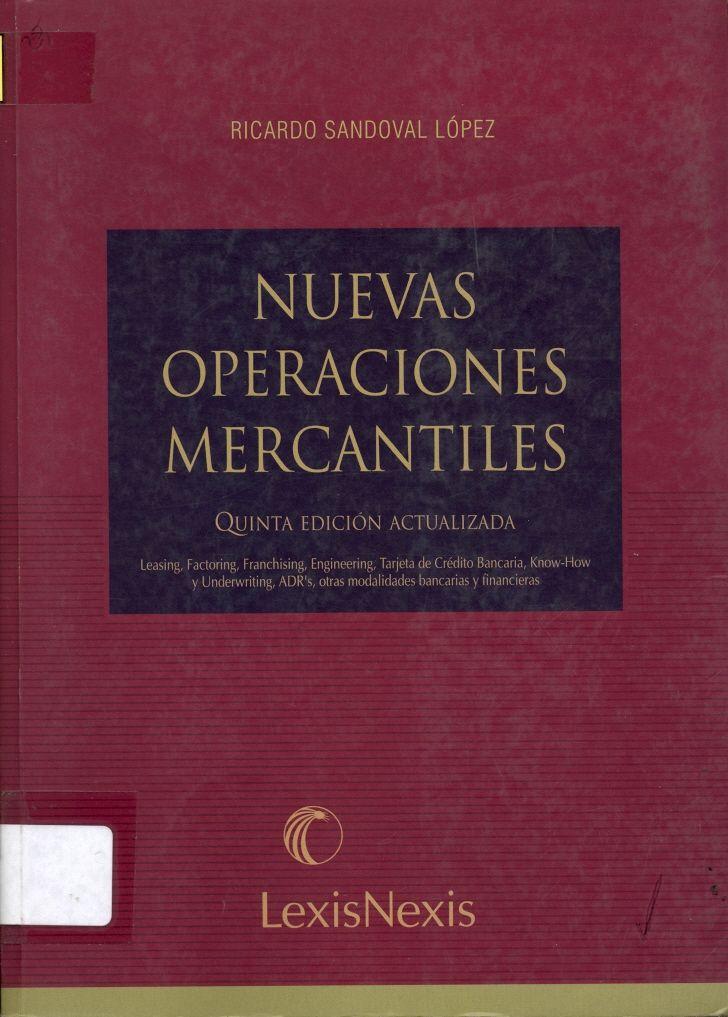 #nuevasoperacionesmercantiles #ricardosandovallópez #leasing #operacionesbancarias #outsourcing #escueladecomerciodesantiago #bibliotecaccs