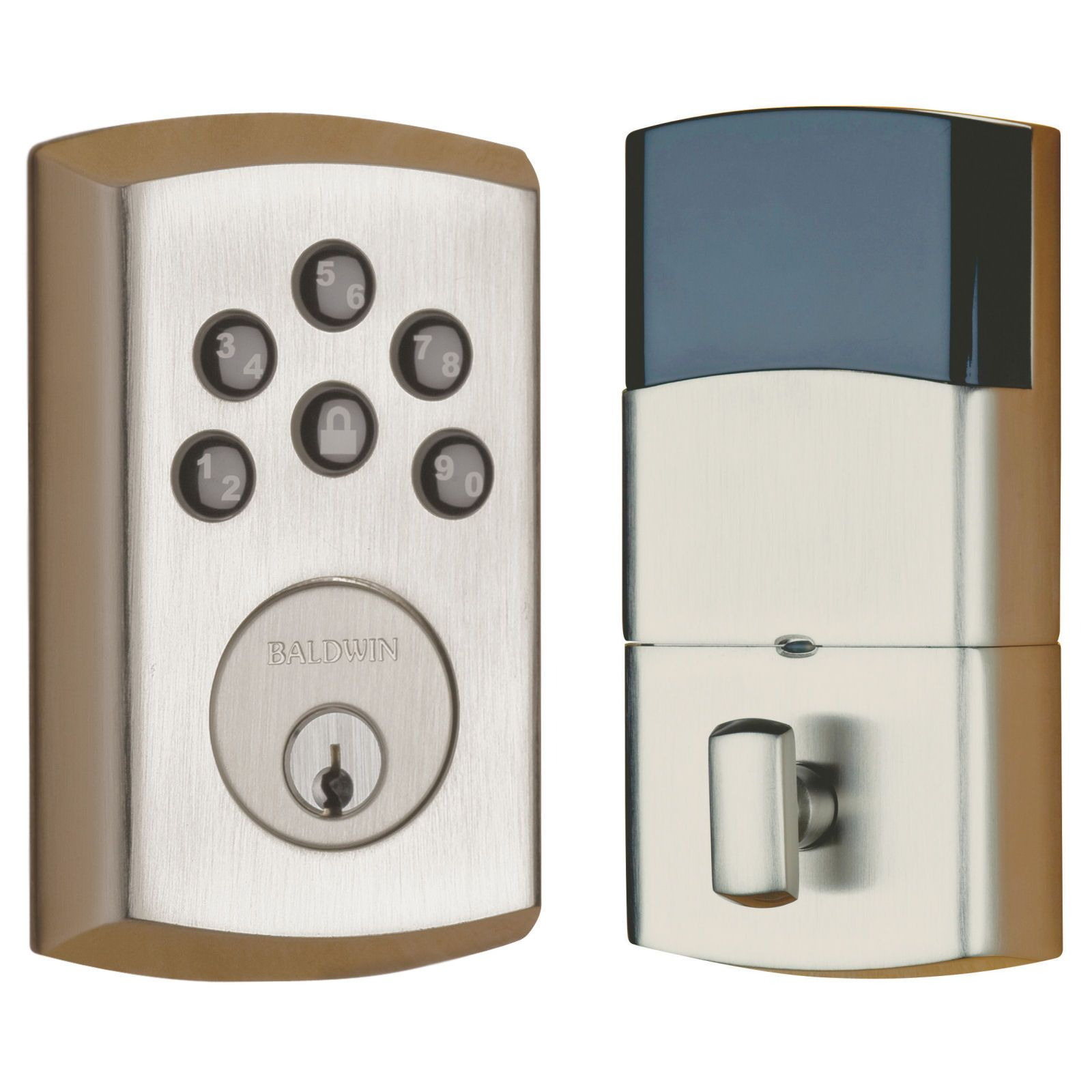 Baldwin Soho 8285 Electronic Keypad Deadbolt With Images Electronic Deadbolt Single Cylinder Deadbolt