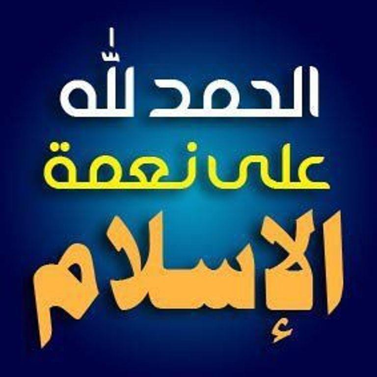 الحمد لله على نعمة الاسلام Words Quotes Islamic Art Calligraphy Islamic Quotes