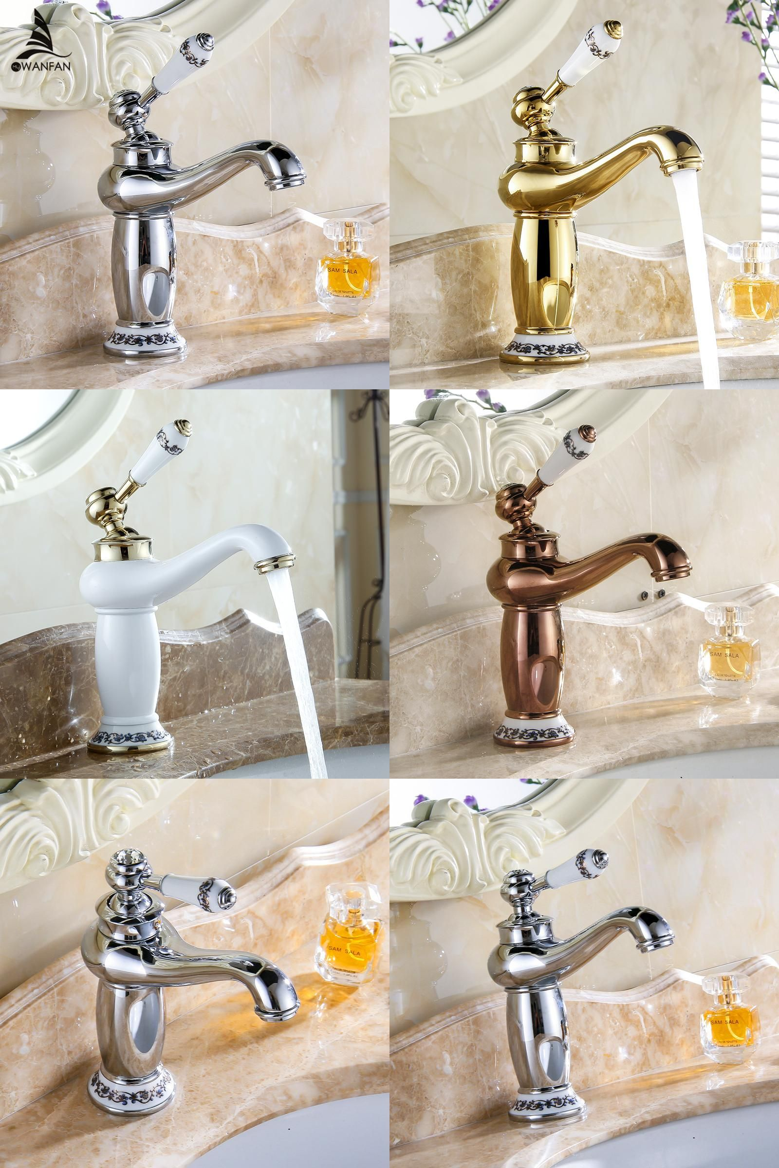 Visit to Buy] Free shipping New Arrival Bathroom Faucet Ceramic ...
