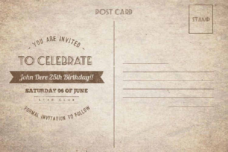 Vintage Birthday Invitation Templates Free