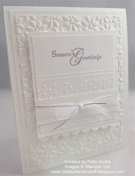 Dreaming of a White Christmas by LaLatty - Cards and Paper Crafts at Splitcoaststampers// Would make as a wedding card...