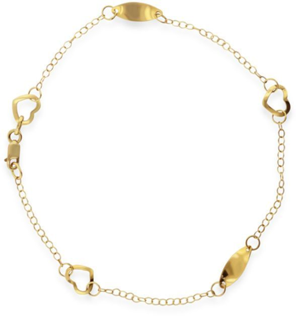 yellow inches gold thick anklet dp solid rolo