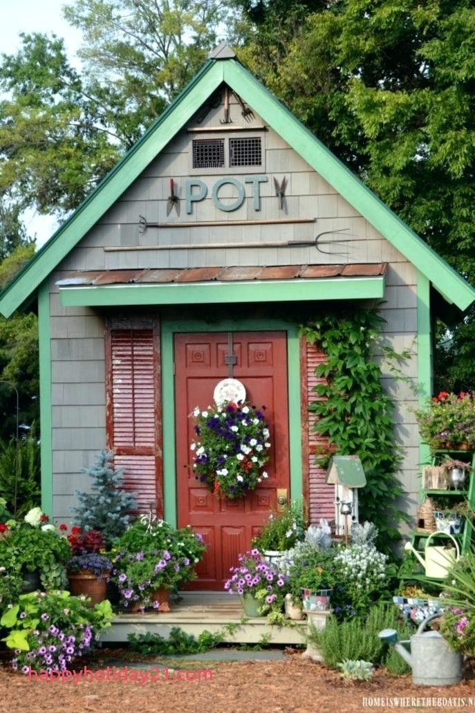whimsical backyard ideas unique happy holiday shed on extraordinary unique small storage shed ideas for your garden little plans for building id=61927
