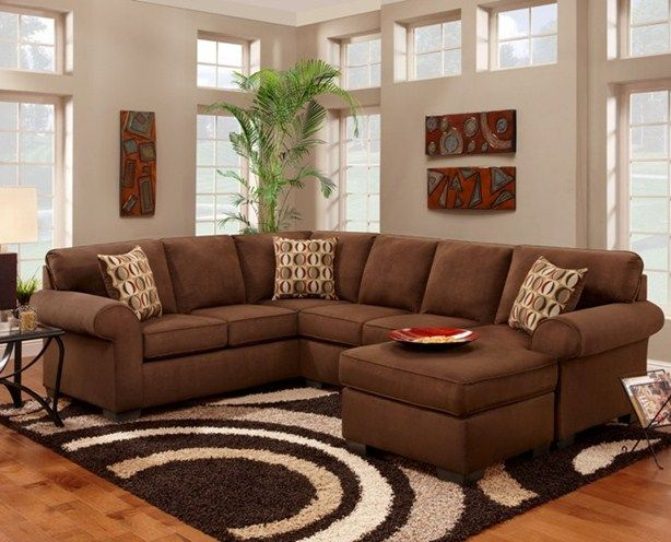 Couch Pit Groups Living Room Sectionals PATRIOT CHOCOLATE PIT GRO