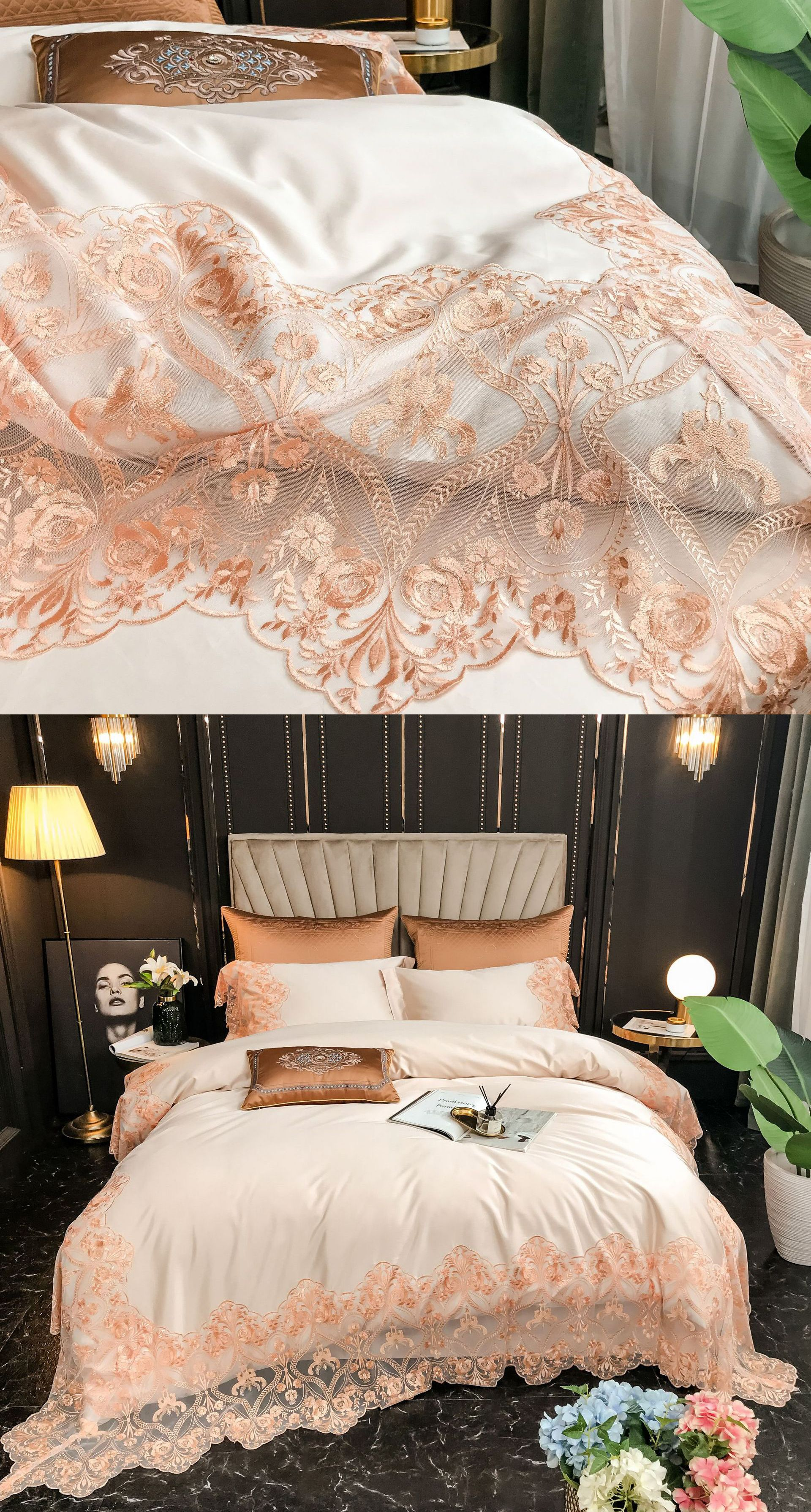 Champion French Lace Duvet Cover Set in 2020 Shabby chic