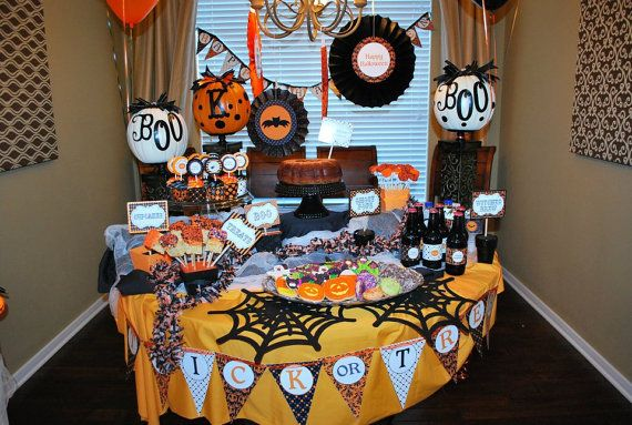 SALE SALE DIY Halloween Elegant Printable Party by CupcakeExpress