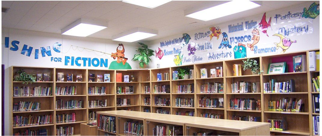 Nice Library Decorating Ideas Part - 7: School Library Decorating Ideas | Sets Appears In: U2022 BULLETIN BOARD:  Fishing For Fiction