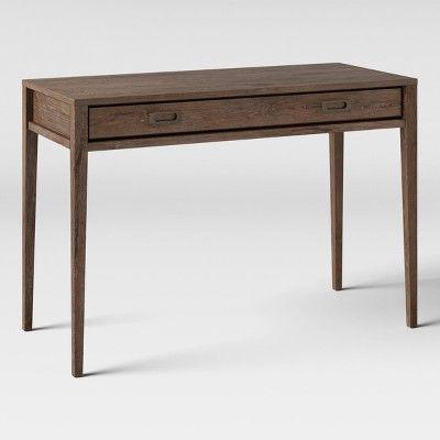 Millbury Rustic Wood Desk Threshold Brown In 2020 Wood Desk