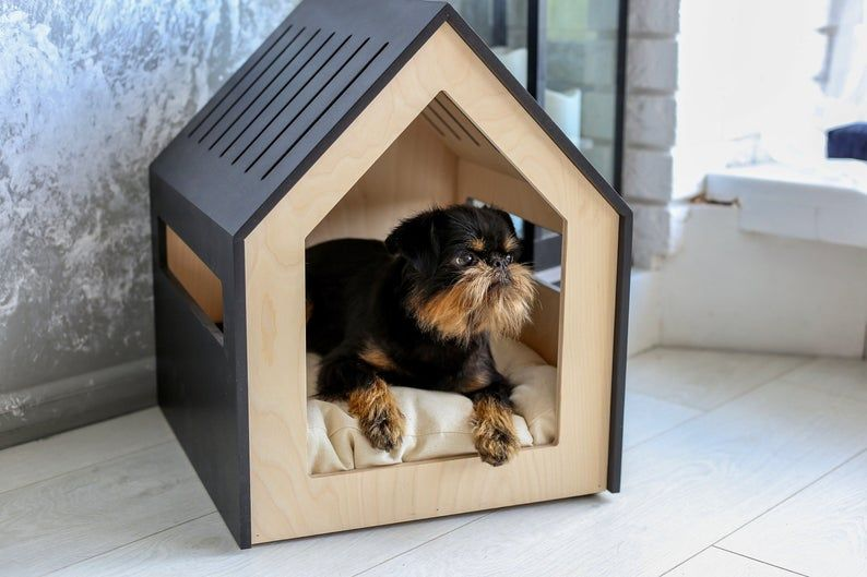 Modern Dog And Cat House Dog Bed Cat Bed Wooden Pet House Modern Pet House Modern Pets Furniture Dog Pillow Cat Pillow Indoor Dog House Modern Pet Furniture Pet Furniture Pet Furniture Dog