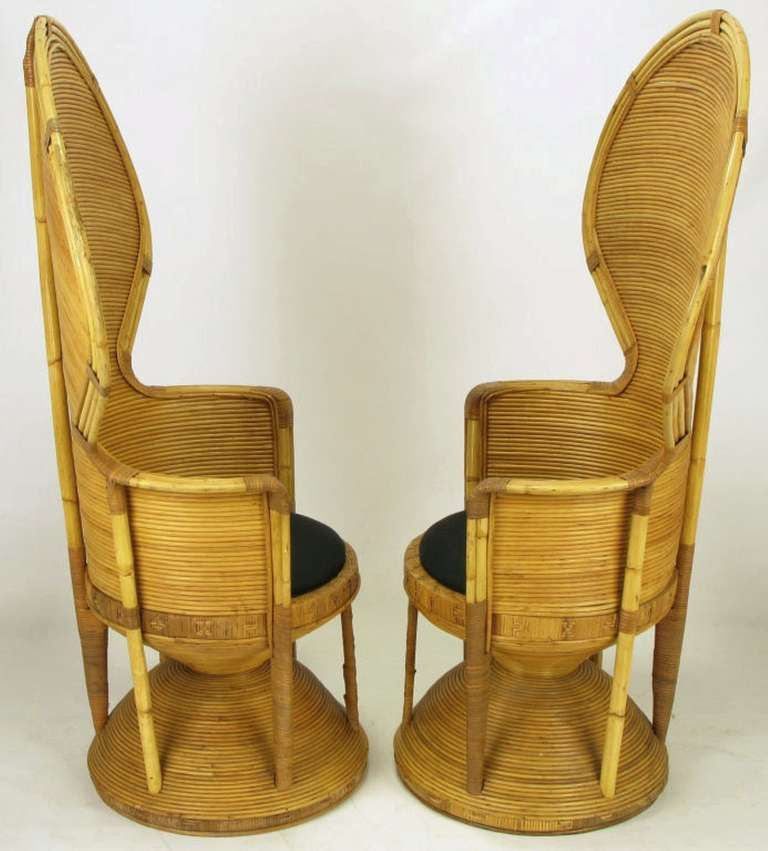 Pair Egyptian Style Rattan Cobra Chairs | From A Unique Collection Of  Antique And Modern Chairs