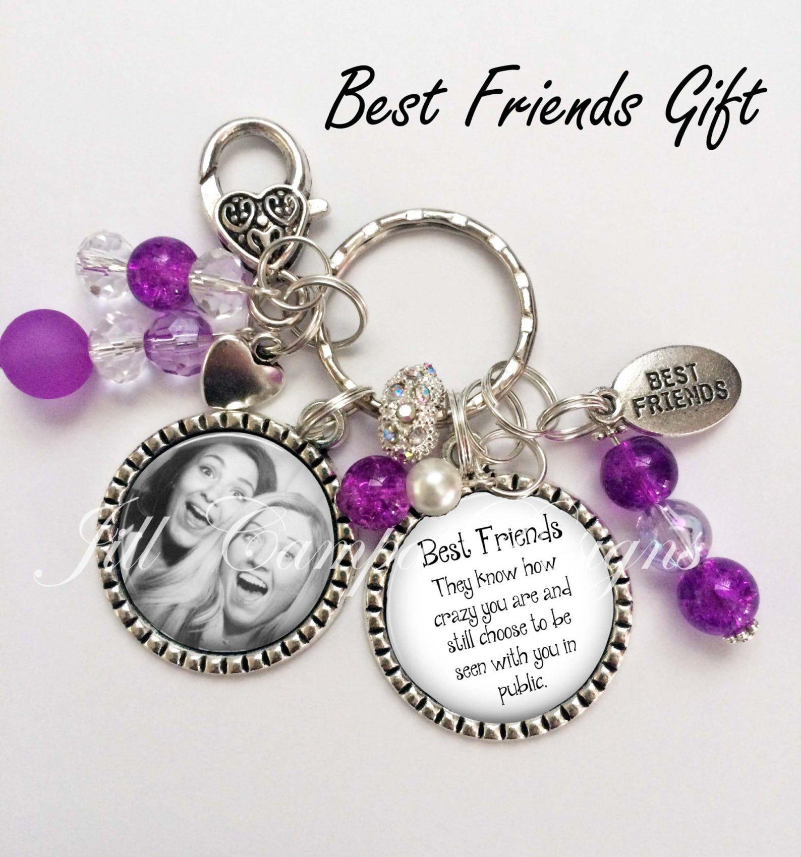Best friends keychain best friends they know how crazy