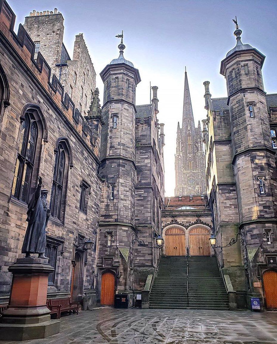 """This is Edinburgh on Instagram: """"#Edinburgh continues to amaze us! 😍 This shot of @edinburghuniversity's School of Divinity from @brianna_alexandra is our #EdinPhoto of the…"""""""