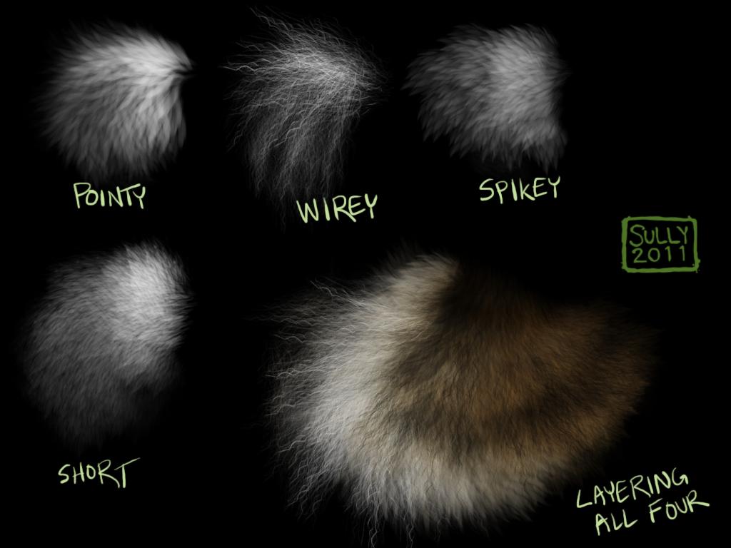 15 Sets of Free Fur Photoshop Brushes | animation