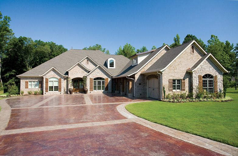 Stylish Brick Amp Stone Exterior With Darling Shutters