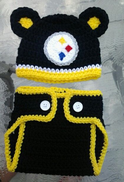 Crocheted+Pittsburgh+Steelers+Hat+and+diaper+by+TinyTippyToppers c54b21429