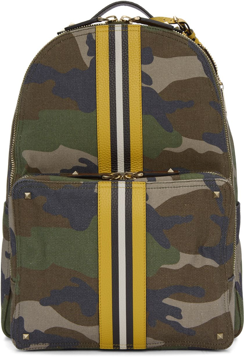 5c4a2662a58f Camouflage stitching canvas backpack men and women Japan and .