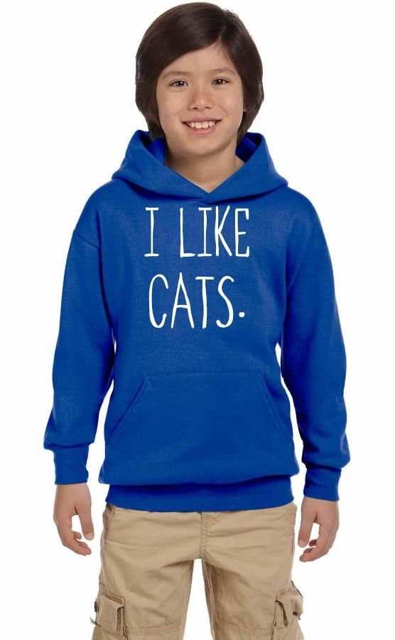 i like cats t shirt design 3 Youth Hoodie