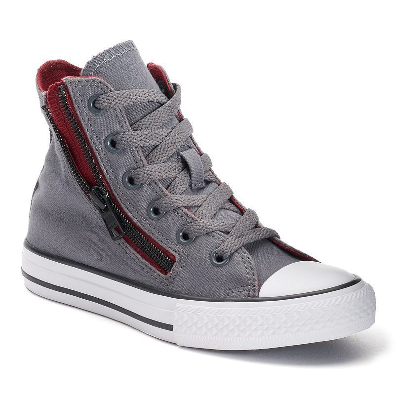 7fa1ff8a1a0 Kid s Converse Chuck Taylor All Star Double Zip High-Top Sneakers ...