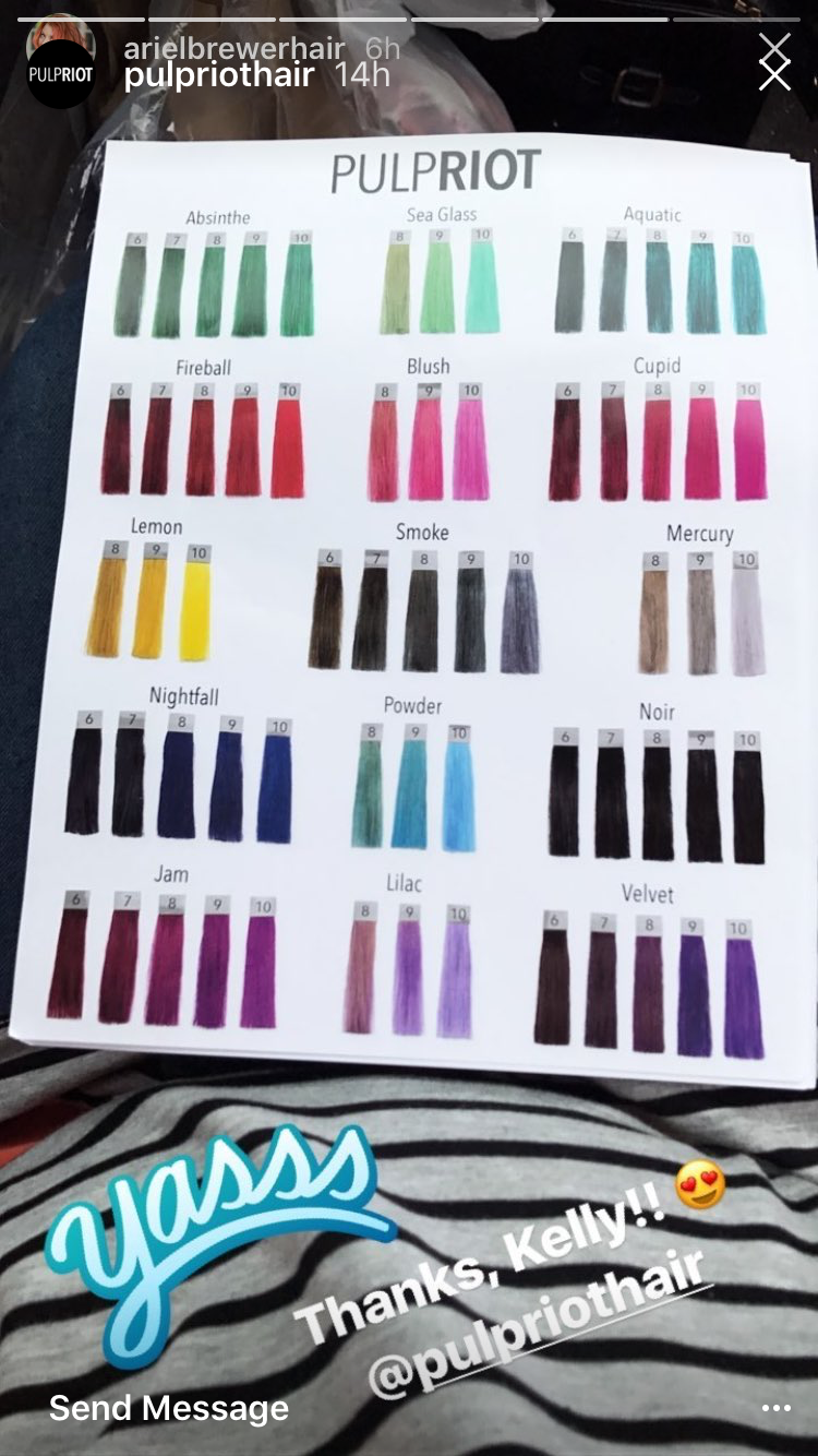 Pulpriot Haircolor Chart