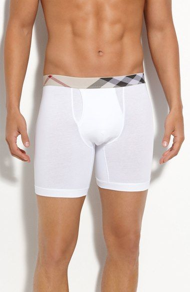 Burberry Check Trim Boxer Briefs available at #Nordstrom
