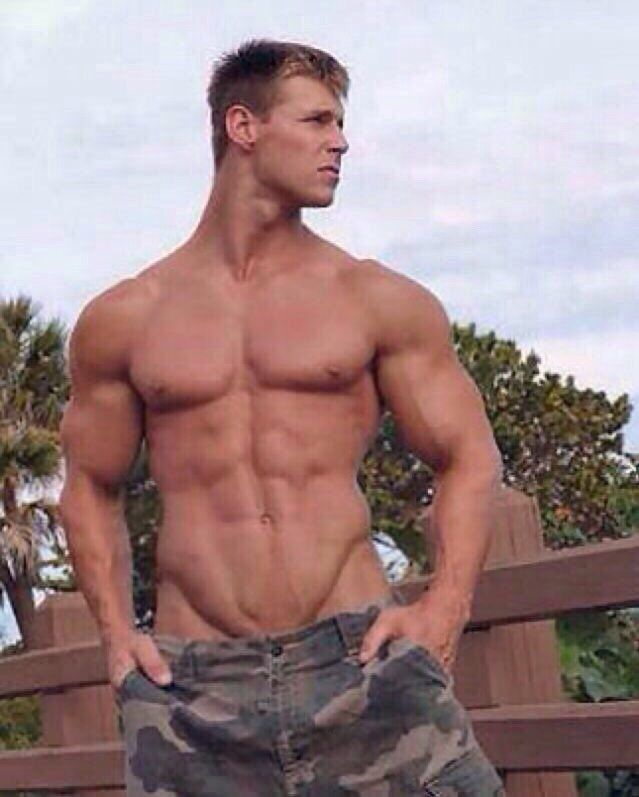 Military muscled hunks naked
