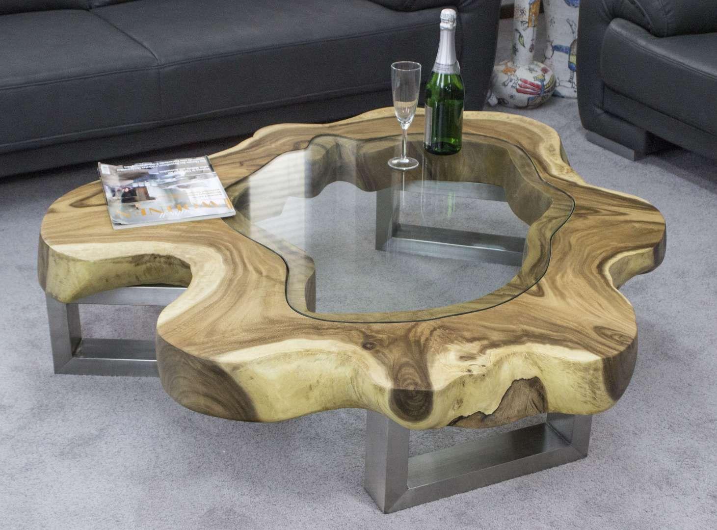 Designer Couchtisch Baumscheibe Mit Glas Der Tischonkel Couchtisch Baumscheibe Holztisch Design Couchtisch