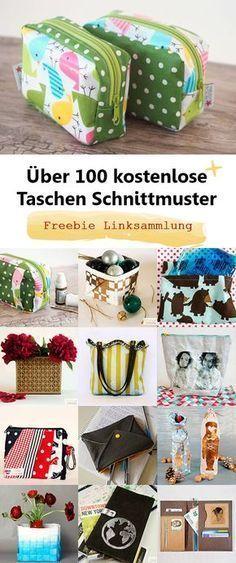 Über 100 kostenlose Schnittmuster für Taschen | Pinterest ...