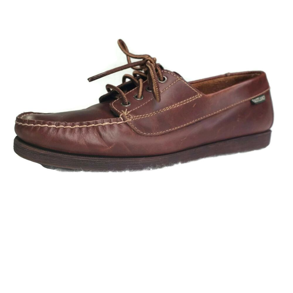 bf9f7d99a3a3 Eastland Shoes Women Size 8.5 Falmouth Loafers Leather Brown Lace Up   Eastland  Loafers  Casual