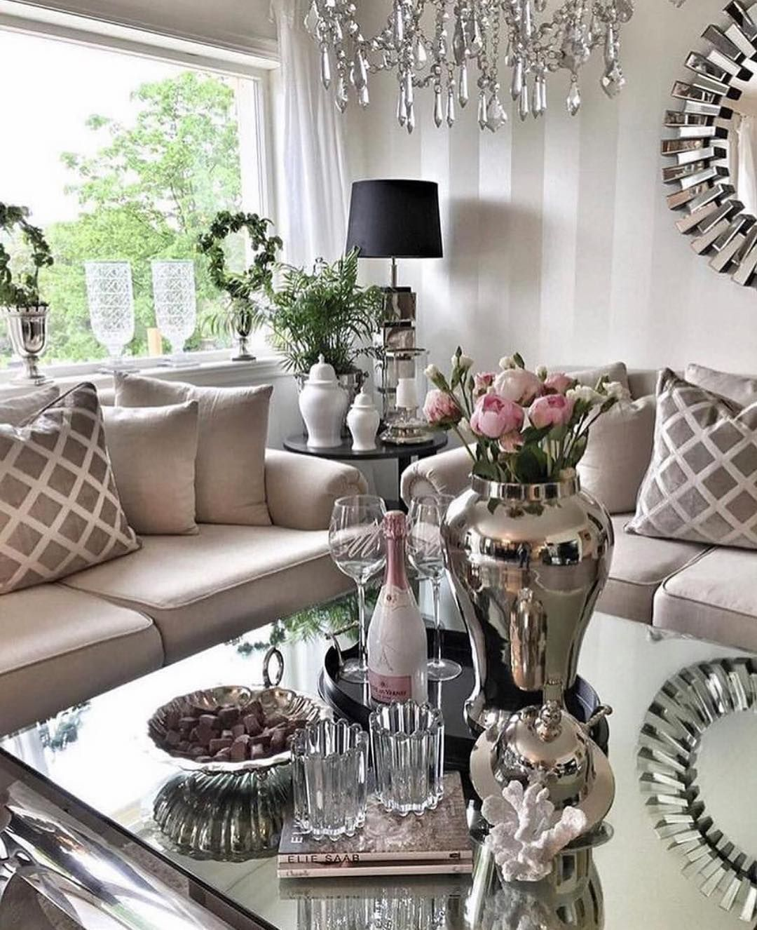 A Career In Interior Decorating Table Decor Living Room Glam Living Room Living Room Designs
