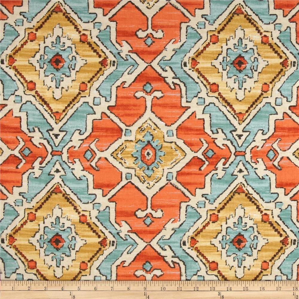 P Kaufmann Sundance Tangerine Drapery Fabric Home Decor