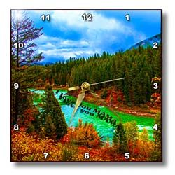 I love you Mama floating above the Snake River in Yellowstone Wall Clock
