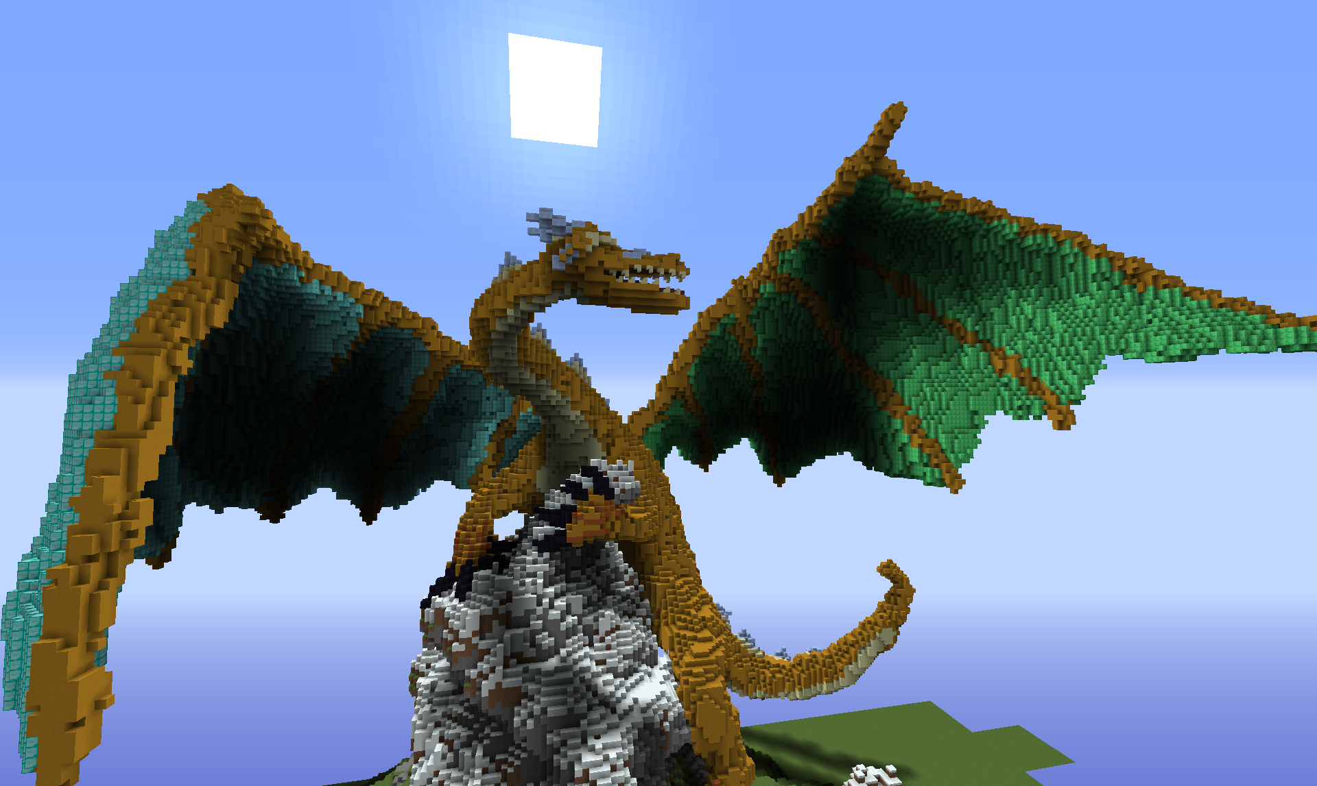 massive minecraft dragon build - Google Search | For the Kids ...