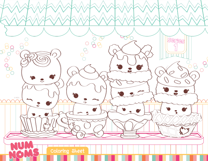 Add Some Coloring Fun To Your Num Noms Birthday Party With