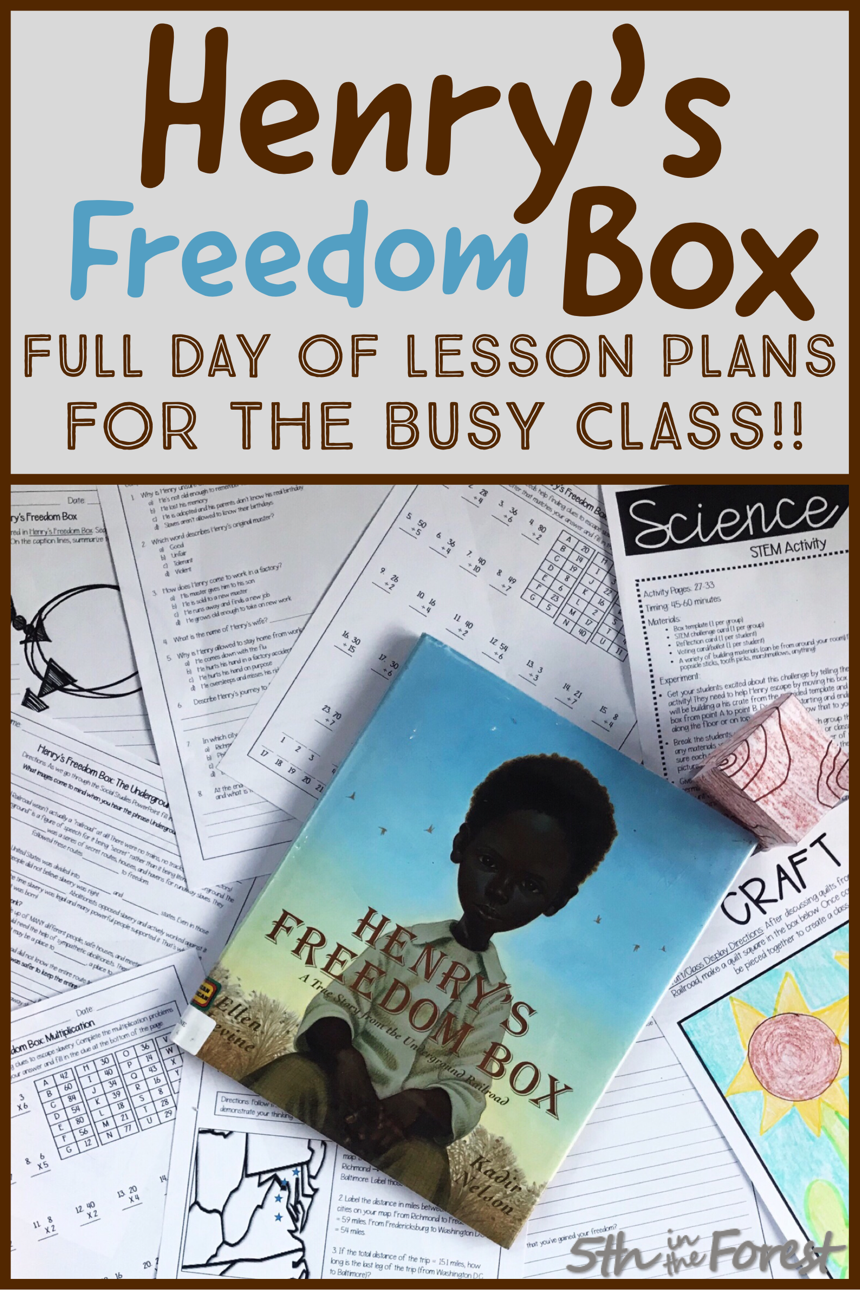 Henry S Freedom Box Full Day Of Lesson Plans