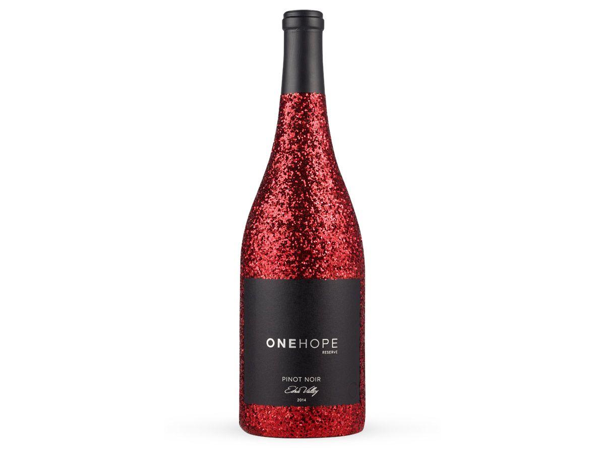 Edna Valley Pinot Noir Red Glitter Edition Perfect Glass Pinot Noir Red Glitter