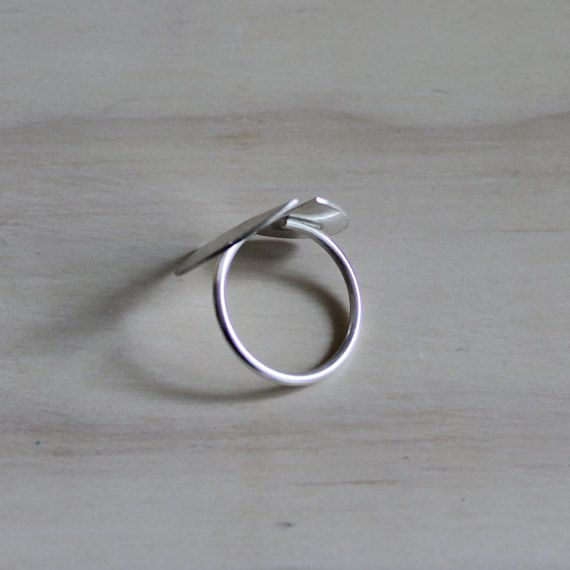 Silver ring geometric adjustable ring moon ring modern jewelry - MOON This geometric and modern silver ring is entirely made by hand: cutted, soldered, engraved and finished by me. Simple and perfect to complete any look. Adjustable ring. Do not hesitate to contact me if you have any question I recommend to read carefully the Shop policies here http://www.etsy.com/shop/AMEjewels/policy?ref=shopinfo_policies_lef