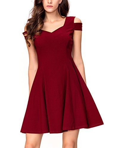 6850b77bc8146 awesome InsNova Women's Off Shoulder Little Cocktail Party A-Line Skater  Dress