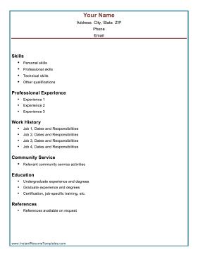 A combination resume lists skills and professional accomplishments ...