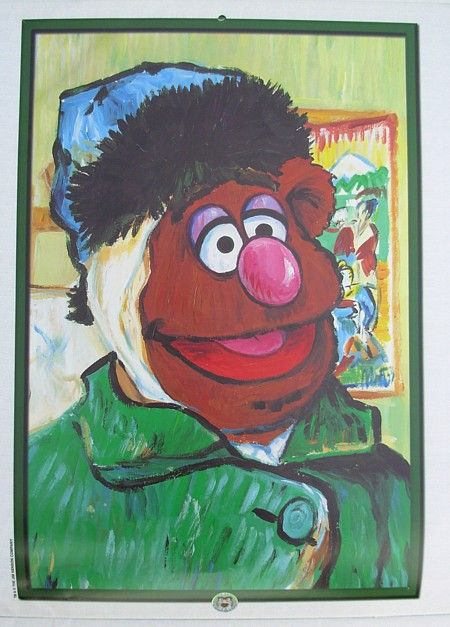 Muppet Art: 1999 Calendar | Art Parody: Van Gogh Self
