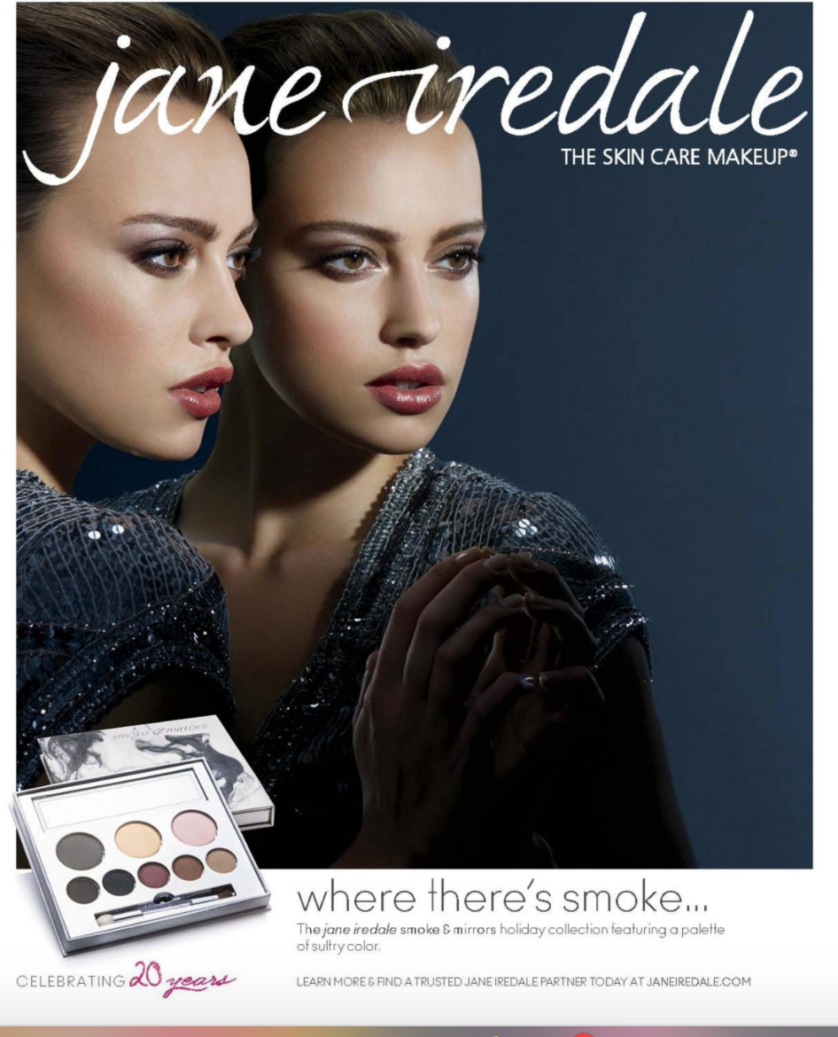 Advertisement The skin care makeup (jane iredale). (2014