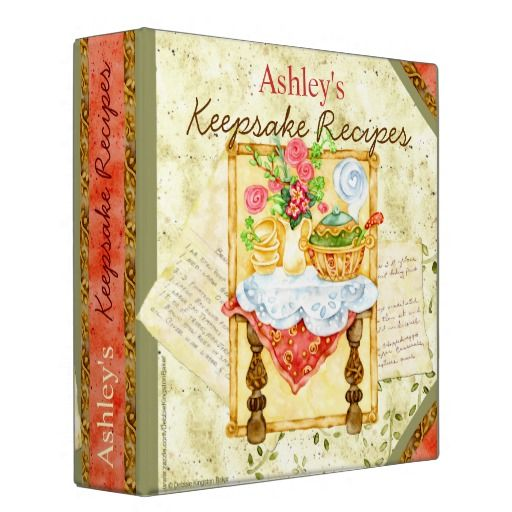 Keepsake Wedding Gifts: My Keepsake Recipes Binder