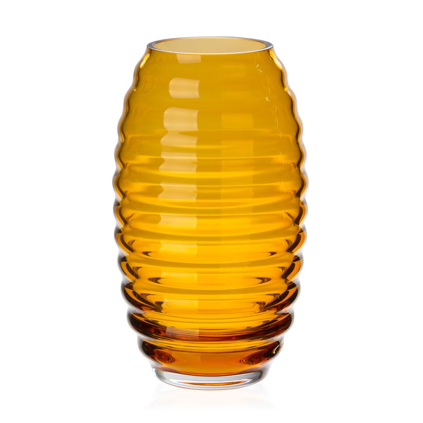 Beehive Amber Vase