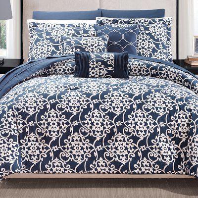 Wrought Studio Snelson 10 Piece Reversible Comforter Set
