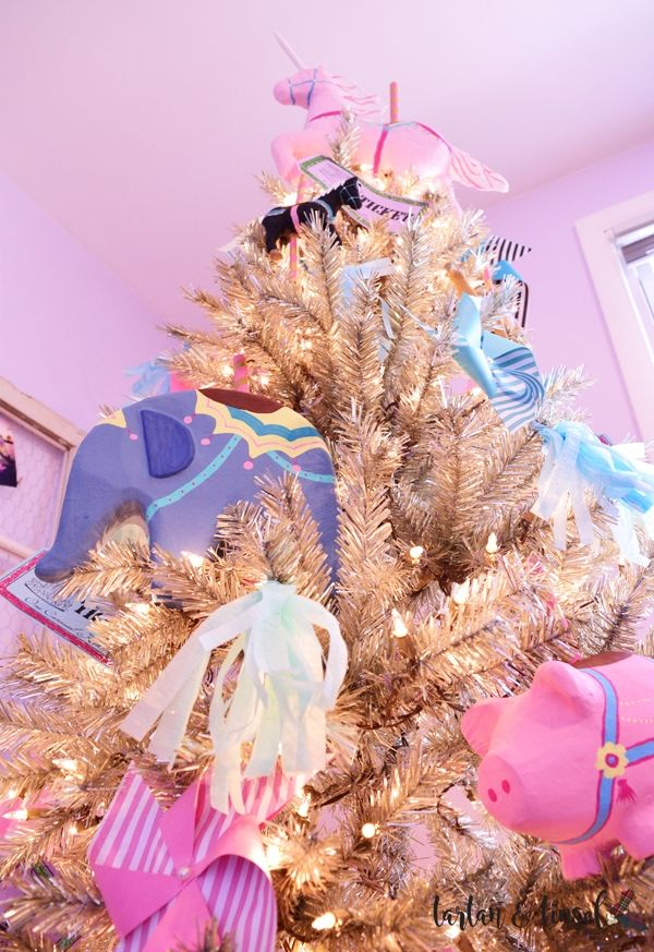 Carousel Themed Christmas Tree That\u0027s Full of Wonder Pink - christmas carousel decoration