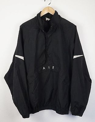 5f77efe8bd269 Vintage Nike AIR Windbreaker Pullover Size XXL Black Nylon Jacket ...